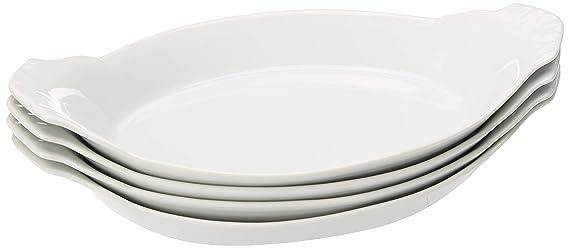 Amazon.com: Charolas ovaladas de porcelana, 10 in, Set de 4 ...
