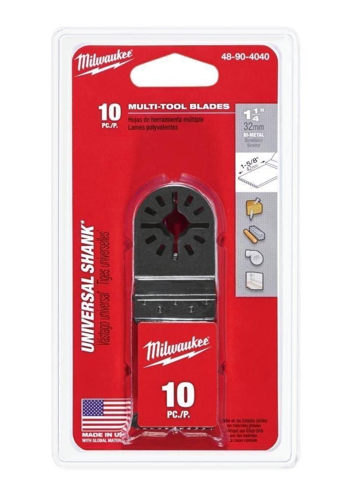 Milwaukee 48-90-4040 Bi-Metal Multi-Tool Blade 1-1/4 in. 10 pack - - Amazon.com