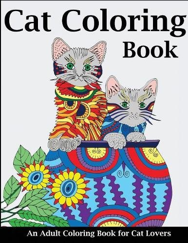 Cat Coloring Book Adult Lovers product image