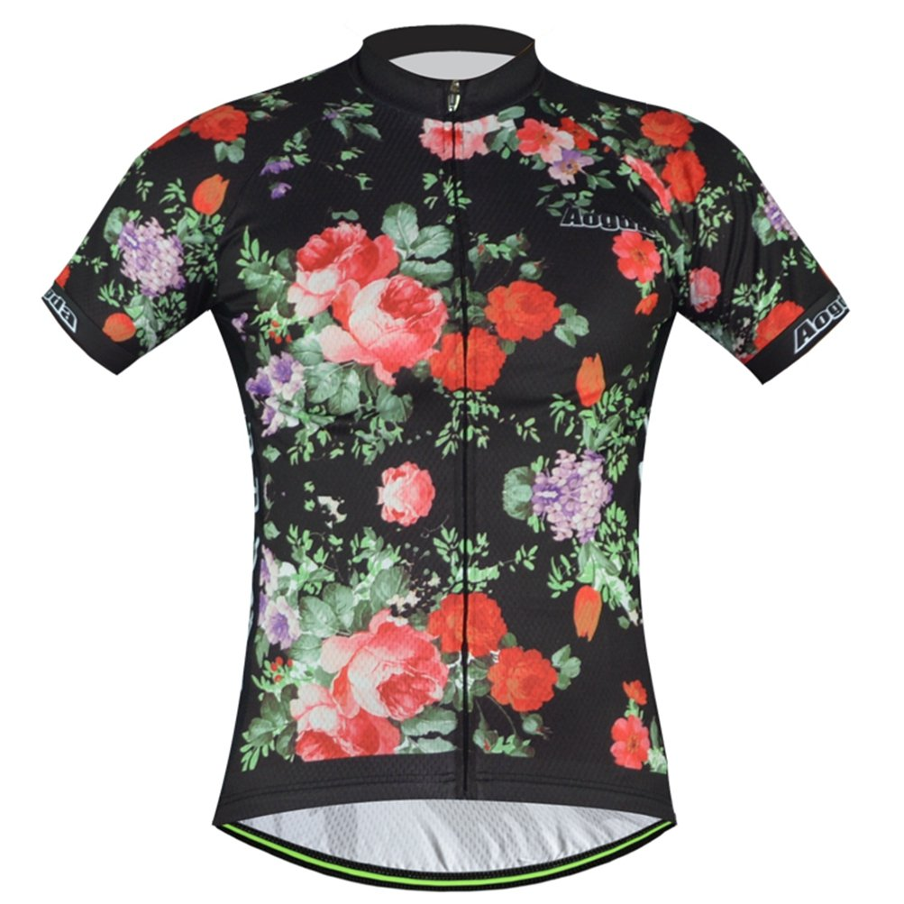 Uriah レディース 自転車半袖ジャージー 反射 B071S28QR9 Chest 36.2''=Tag S|Modern Rose Modern Rose Chest 36.2''=Tag S