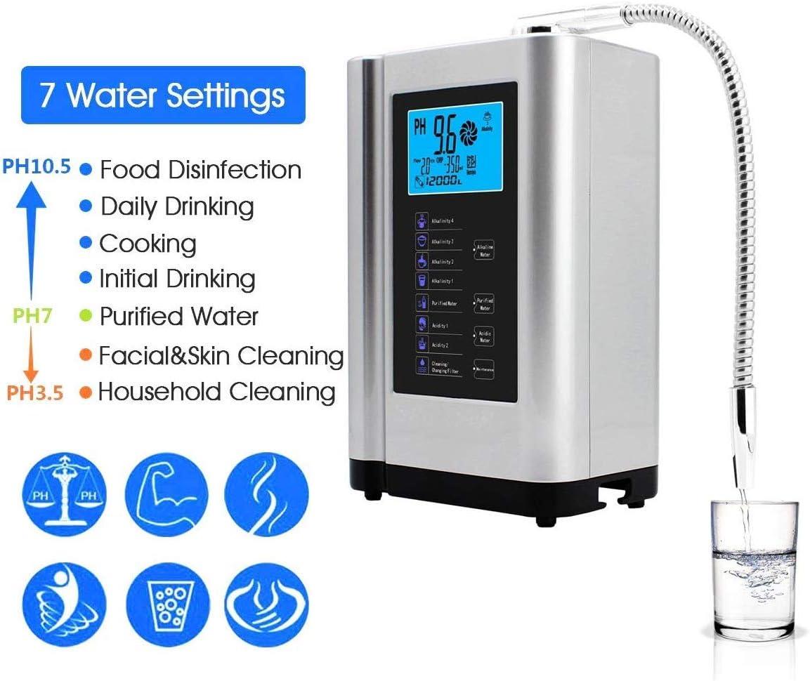 AlkaDrops ionizador de agua, purificador de agua PH 3.5-10.5 ...