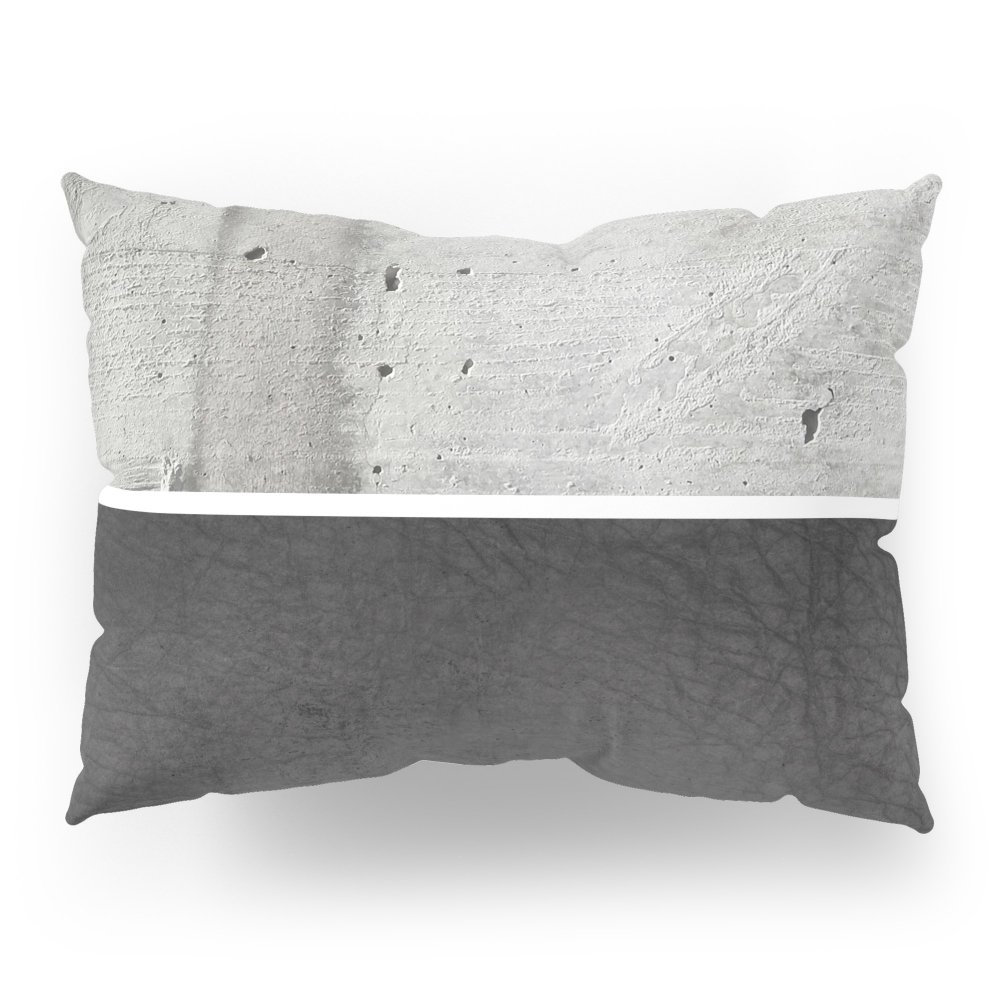 Society6 Raw Concrete And Black Leather Pillow Sham Standard (20'' x 26'') Set of 2