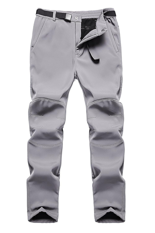 Anlamb Men's Outdoor Waterproof Windproof Fleece Cargo Snow Ski Hiking Pants AN-SF1602M