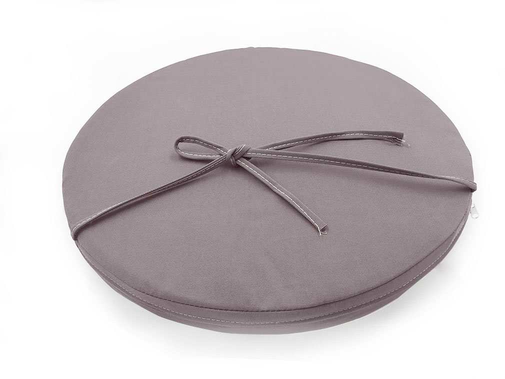 Sigmat Indoor/Outdoor Seat Cushions Waterproof Round Bar Stool Cushion Solid Chair Pad Light Grey 20 Inch
