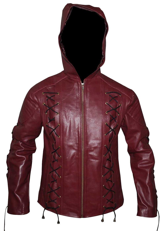 Roy Harper Arrow Season 3 Colton Haynes Hooded Synthetic Jacket