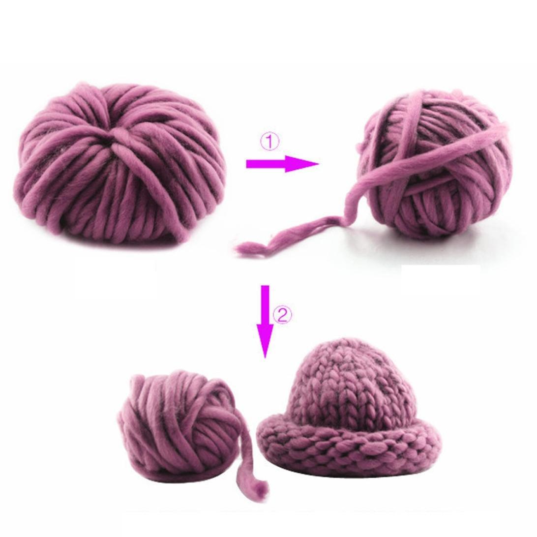 sunnymi Super Soft Ball Woolen Roving Häkeln/Geschenk/DIY Wolle Garn ...