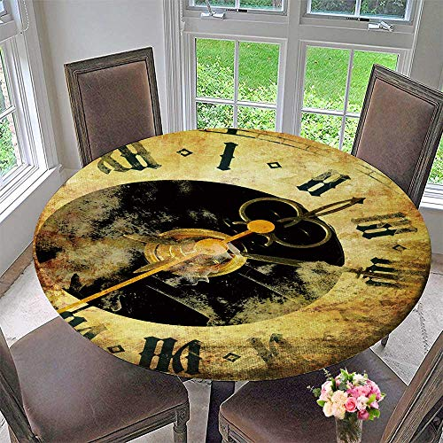 PINAFORE HOME Round Tablecloths Clocks or Everyday Dinner, Parties 31.5