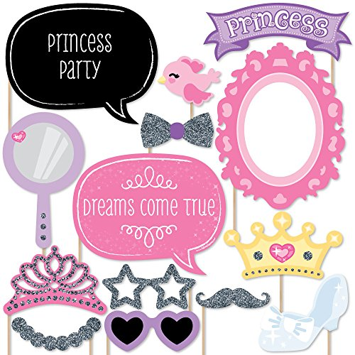 Big Dot of Happiness Pretty Princess - Photo Booth Props Kit - 20 Count
