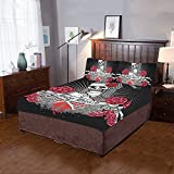 Happy More Custom Holy Death Day Of The Dead Duvet Cover Sets 3-Pieces Bedding Set