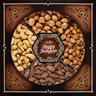 Nuts gift baskets christmas do it yourselfore jaybees happy holiday nuts gift tray perfect for holiday birthday corporate contains solutioingenieria Image collections