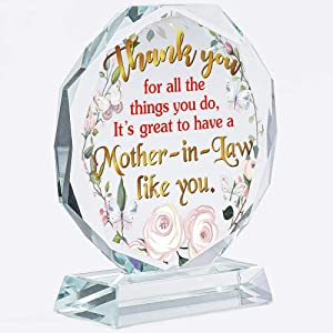 Mother In Law Gifts | From Son In Law | Daughter | Wedding | Christmas | Bride | Groom | Mothers Day | Keepsake | Crystal