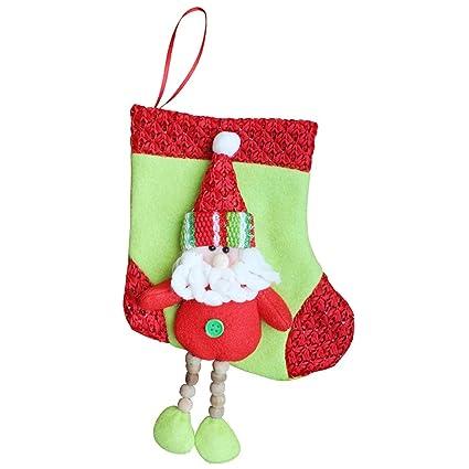 Pull Franela Medias de Navidad de Medias Calcetines de Navidad Suministro de Adorno Colgante Precioso Decoración