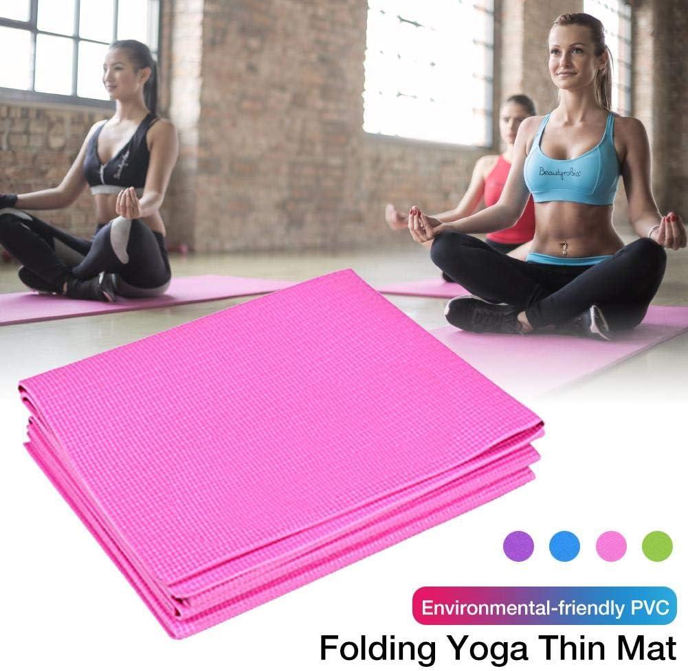 Le Fitness Le Pilates 173 X 61cm Lentra/înement Letway Tapis De Yoga Tapis De Yoga Pliable Anti-d/érapant Haute Densit/é De 4 Mm D/épaisseur Tapis dexercice pour Le Yoga La Gymnastique