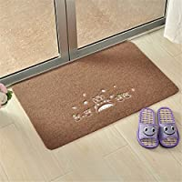 Sytian Soft Absorbent Non Slip My Neighbor Totoro Doormat Floor Mat Bath Mat Bathroom Shower Rug Carpet (Coffee)