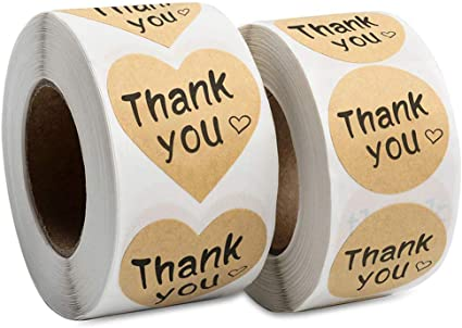 Rose Gold Thank You Stickers Labels for Sealing 1.5 Inch Thank You ...