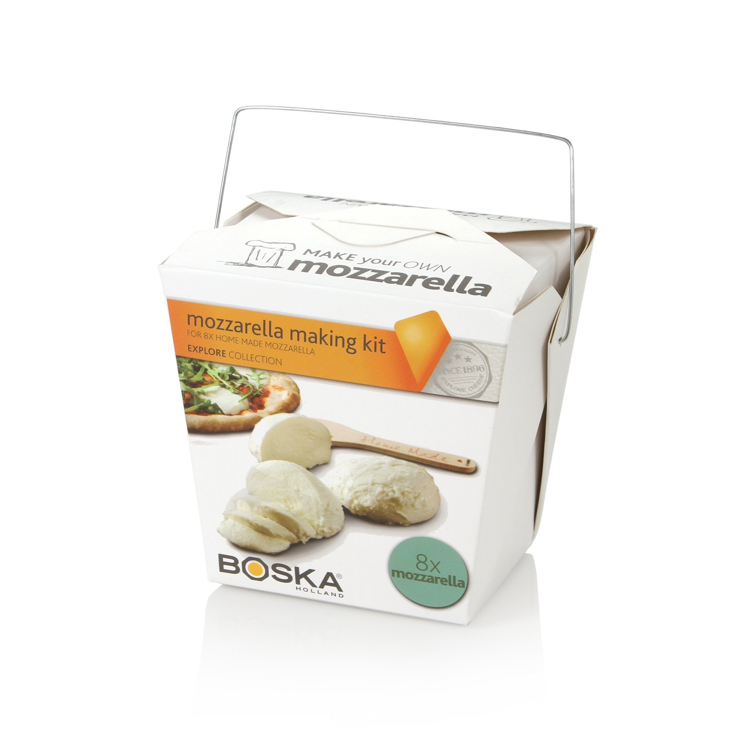 Boska Holland Mozzarella Cheese Making Kit, Homemade Set, Makes up to 8 Batches, Explore Collection
