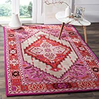 Safavieh Bellagio Collection BLG545A Red Pink and Ivory Bohemian Medallion Area Rug (3 x 5)