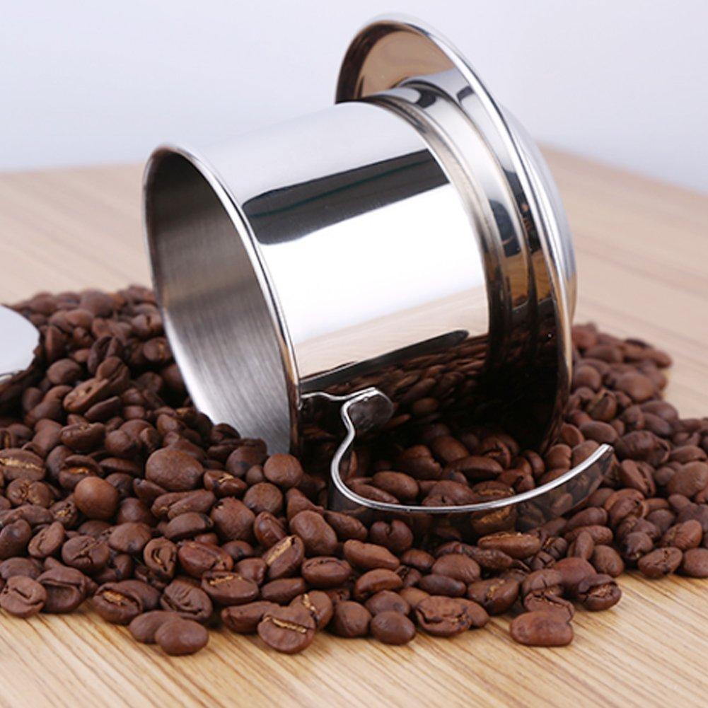 Café de goteo pote de la gota - De acero inoxidable Vaso de café de Vietnam para la cocina o uso de la oficina: Amazon.es: Hogar