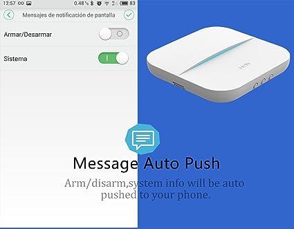 W20 Alarma seguridad GSM con WIFI , Sensor de movimiento ...