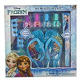 Townley Girl Disney Frozen My Beauty Spa Set, Nail Polish, Buffer, File, Sandals (Girls 10-11) and Toe Separators