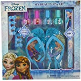 Townley Girl Disney Frozen My Beauty Spa Set, Nail Polish, Buffer, File, Sandals (Girls 10-11) and Toe Separators