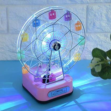 Christmas Ferris Wheel Music Box.Led Flashing Lights Rotating Ferris Wheel Music Box Color