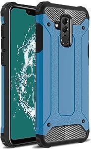 TenYll Huawei Mate 20 Lite Funda, protección contra Golpes de TPU+PC Resistente a arañazos(Doble Capa),para Huawei Mate 20 Lite Funda -Azul Oscuro