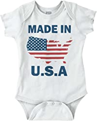 e1c71c5f809 Made USA American Flag United States Gym Romper Bodysuit