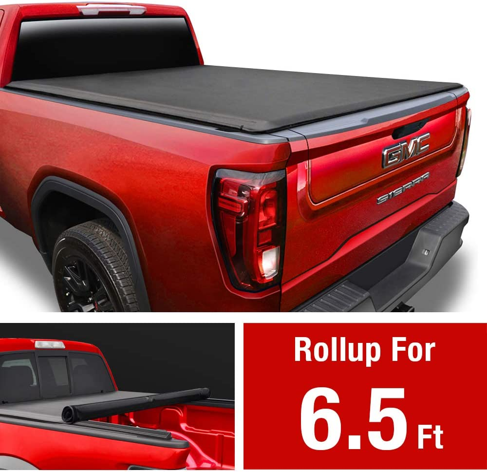 Best Tonneau Covers for GMC Sierra, MaxMate Soft Roll Up Truck Bed Tonneau Cover