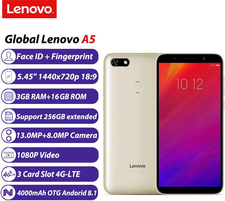 Lenovo A5 Face ID 3GB 16GB 4000mAh 5,45 Pulgadas Android 8.1 ...