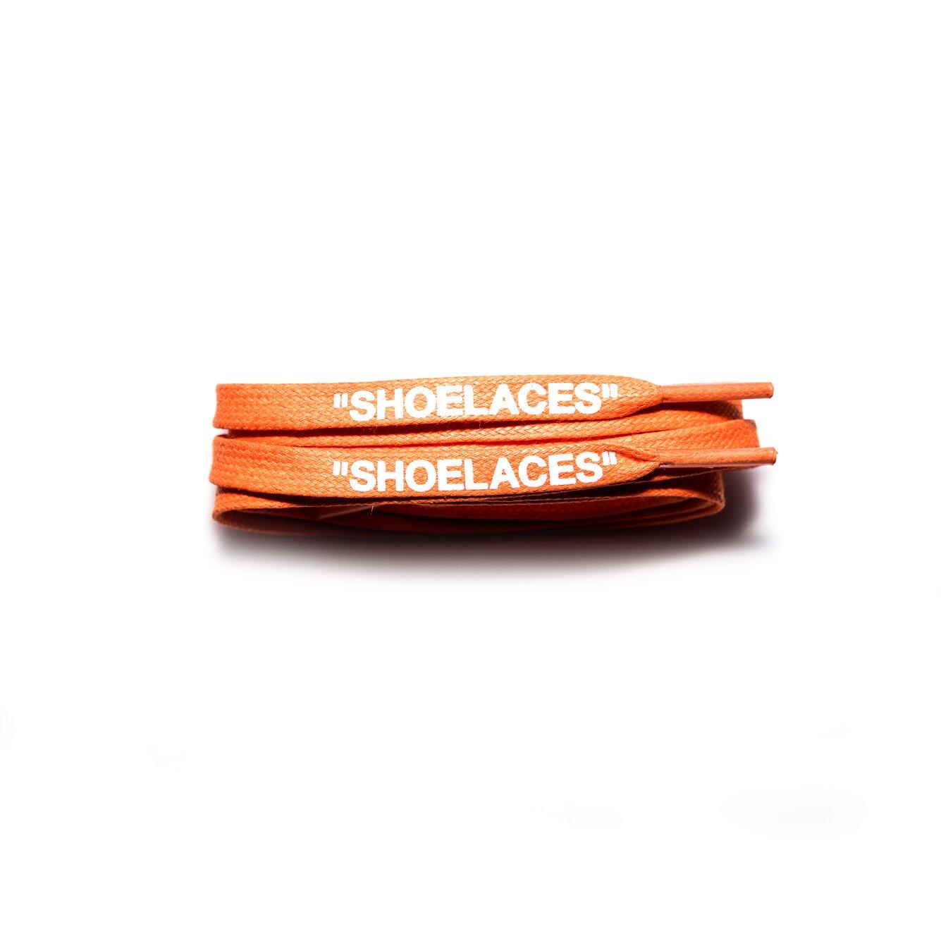 xxiii -''Shoelaces'' Custom Text Printed Shoe Laces Swap Font - Flat Cotton Waxed Design