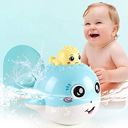 Toys & Hobbies Childrens Bath Water Whale Turn Toy Shower Shower Baby Children Play Water Toys Beautiful In Colour Water Balloons