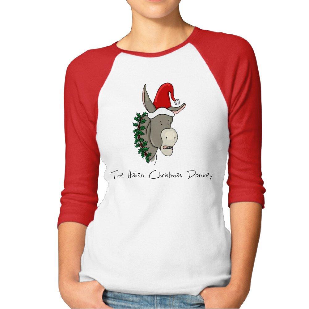 Amazon.com: Alternative Women\'s The Italian Christmas Donkey Round ...