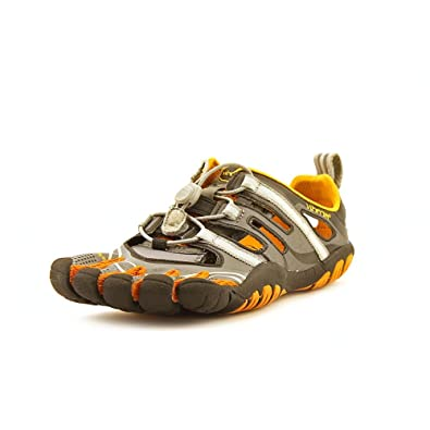 new style 41baa b22cc Vibram Women s TrekSport Sandal, Grey Orange, ...