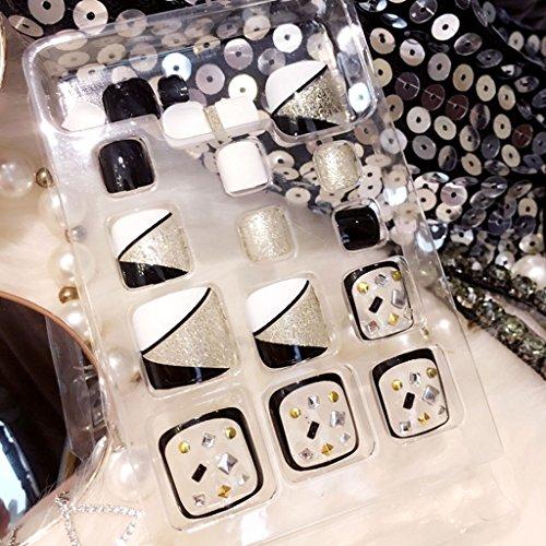 24Pcs Fake False Foot Nails Toenails Nail Art Tools Novel Style Holiday Gift J60 -