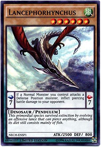 Yu-Gi-Oh The New Challengers Single Card Super Rare NECH-ENSP1 Lancephorhynchus