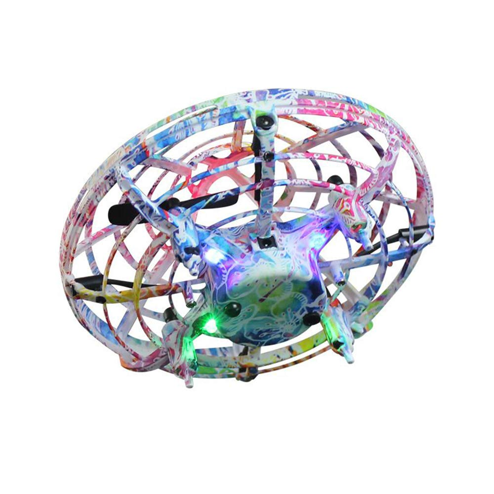 LOKMAT Drones for Kids, Hand-Controlled Suspension Mini Helicopter Drone,Infrared Induction Interactive Drone Flyer Toys with 360° Rotating and LED Lights, Flying Toys for Boys Girls (Multicolor) by LOKMAT (Image #3)