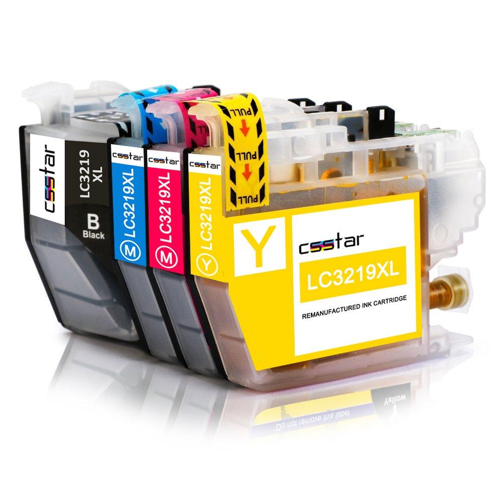 CSSTAR Compatible Cartuchos de Tinta Reemplazo para Brother LC3219 ...