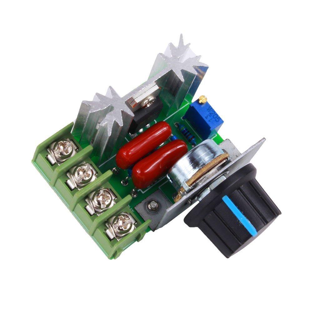 Yosoo PWM Contrô leur moteur AC contrô le Vitesse 2000 W Tension ré glable Ré gulateur 50-220 V 25 A LED variateurs