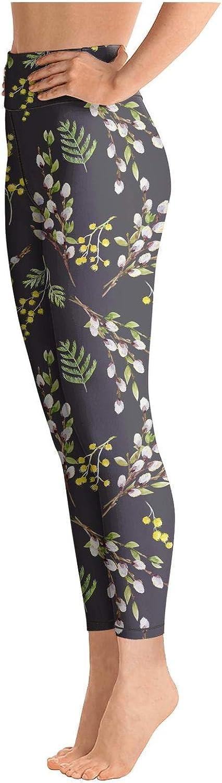 Eoyles gy Women Girls High Waist Comfortable Watercolor Willow Tree Tights Yoga Pants Leggings