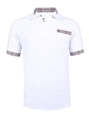 Sykooria Camisa de Polo para Hombre Camiseta de Algodón de Manga ...