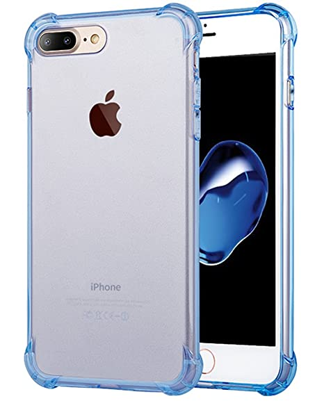 huge selection of 20739 8ccf1 for iPhone 7 Plus Case, for iPhone 8 Plus Case, Matone Crystal Clear Shock  Absorption Technology Bumper Soft TPU Cover Case for iPhone 7 Plus ...