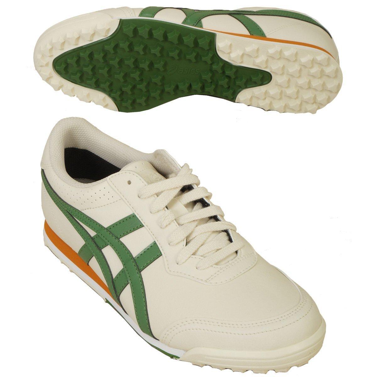 asics(アシックス) ゲルプレショット クラシック2 ゴルフシューズ TGN915 B01CUPVC36 26.5cm アイボリー/ダークグリーン