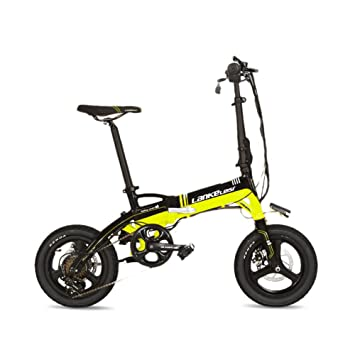 Extrbici A6 plegable marco de aleación de aluminio Mini eléctrica bicicleta 14 pulgadas 240 W Hub