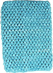 Wholesale Princess 8 Inch Crochet Top For Kids Sold Individually-Turquoise