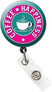 Keep Calm and Drink Coffee Coffee Badge Reel//Retractable Badge Reel//ID Badge Holder