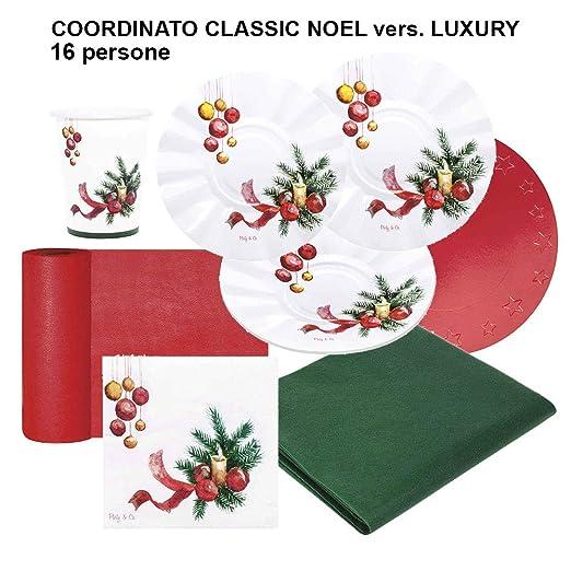 Party&Co. coordinado Tabla Navidad Classic Noel para 16 Personas ...