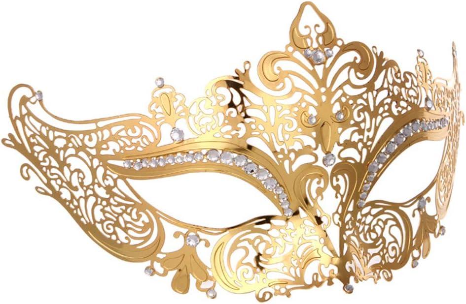 Gold BLEVET 2PCS Venezianische Masquerade Maske f/ür Paare Halloween Masquerade Ball Halbmaske Venezianischen Party Augenmaske MZ087