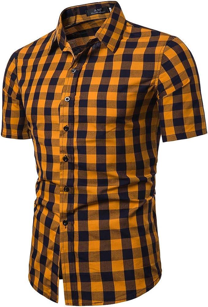 Innerternet Camisa de Hombre, CS64 Camisa de Solapa de