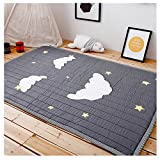 IHEARTYOU Thick Cotton Baby Crawling Cushion Non-slip Toddlers Mat Washable Kids Play Mat Kids' Room Rug Activity Floor Carpet, Cloud